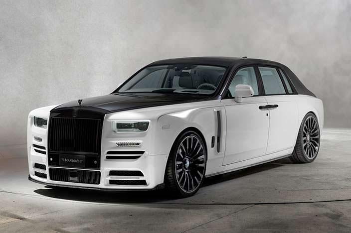 Черно-белый Rolls-Royce Phantom VIII. Тюнинг от Mansory