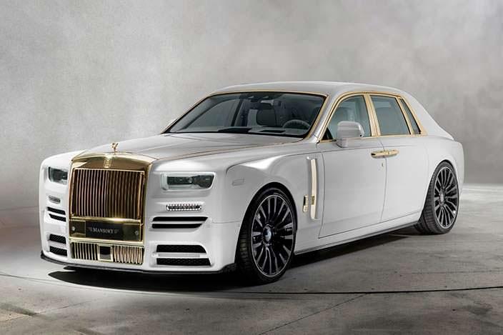 Золотой Rolls-Royce Phantom VIII. Тюнинг от Mansory