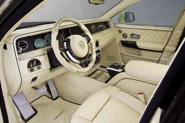 Фото салона Rolls-Royce Phantom от Mansory