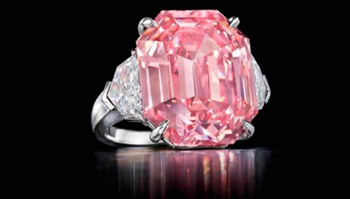 Самый большой розовый бриллиант Pink Legacy продают за $50 млн