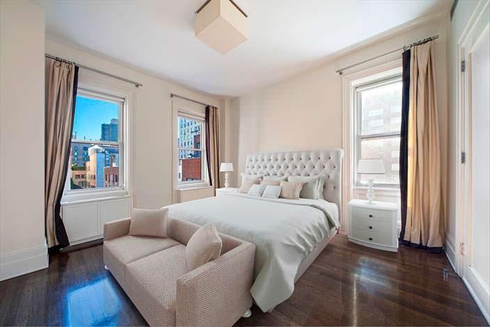 Дизайн спальни в квартире знаменитости