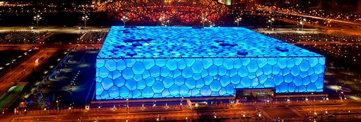 Пекинский национальный плавательный комплекс - место проведения фестиваля