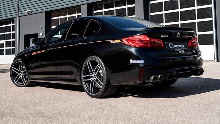 BMW M5 F90 на 21-дюймовых дисках от G-Power
