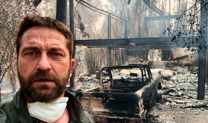 Фото | У Джерарда Батлера сгорел дом в Малибу в канун дня рождения