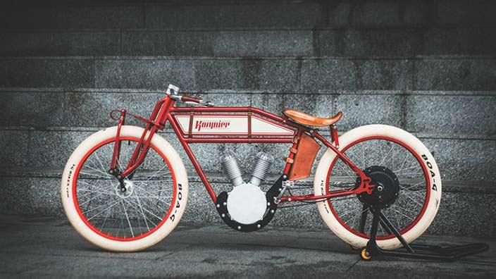 Электро-мопед в стиле мотоциклов 1920-х Kosynier Boardtrack