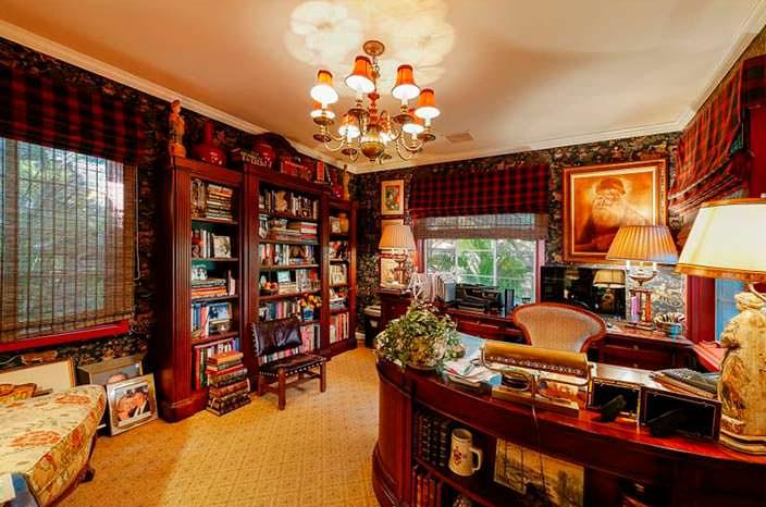 Домашняя библиотека кабинет Дрю Берримор