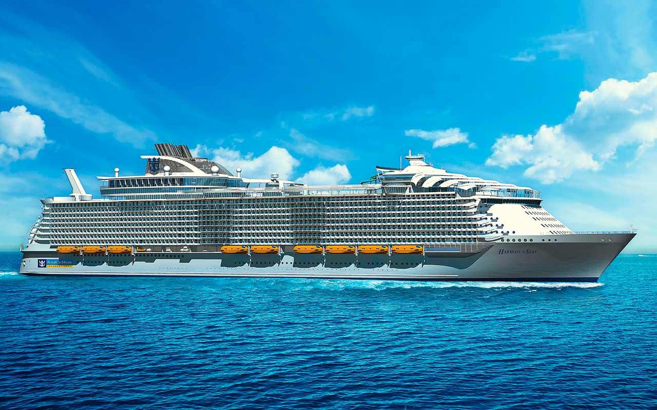 Гигантский круизный корабль Harmony Of The Seas