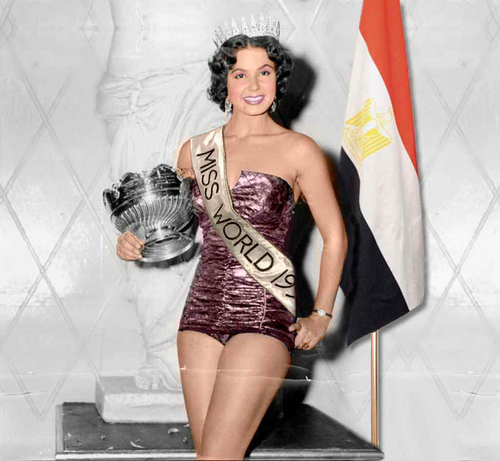Фото   Мисс Мира 1954 года Антигона Костанда