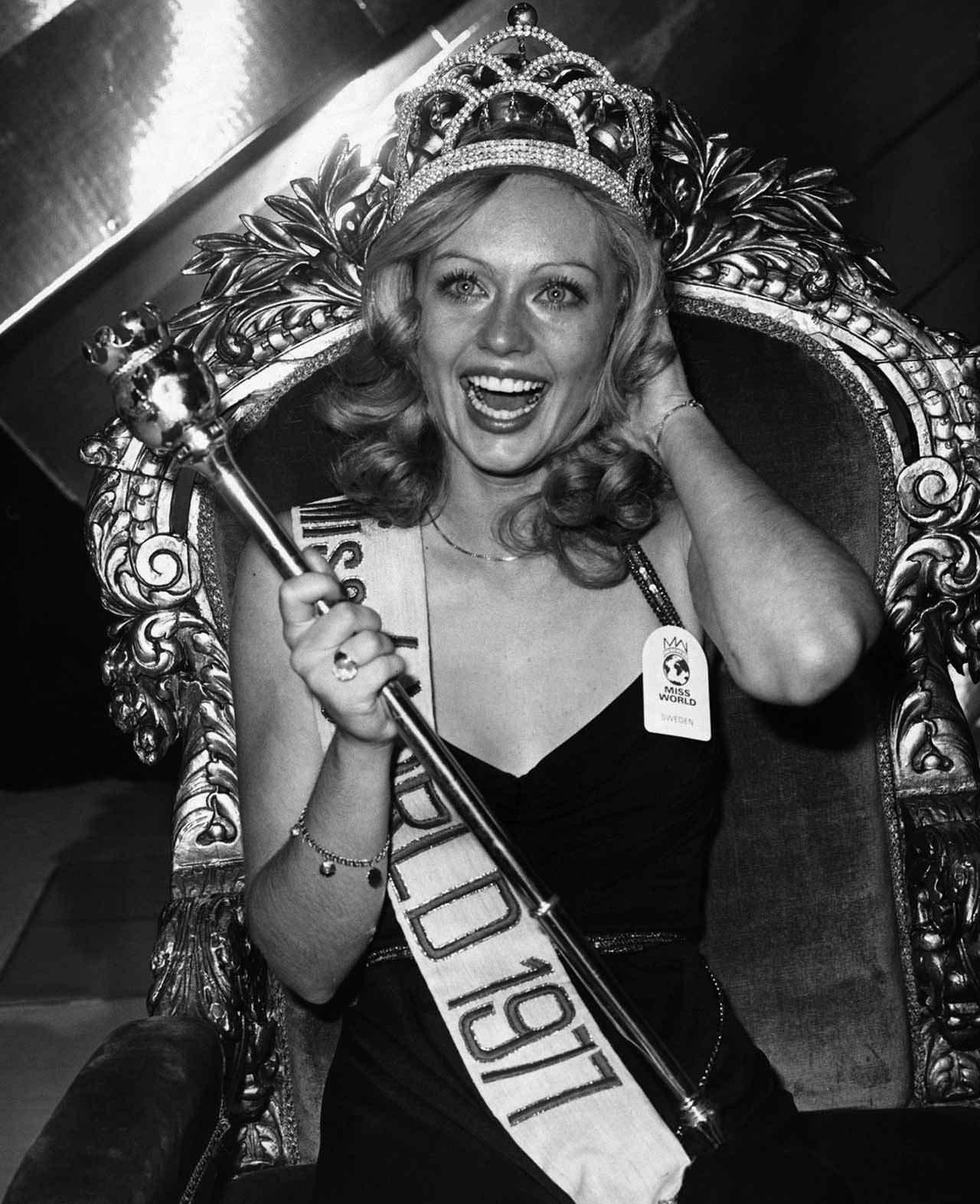 Фото   Мисс Мира 1977 года Мари Стэвин