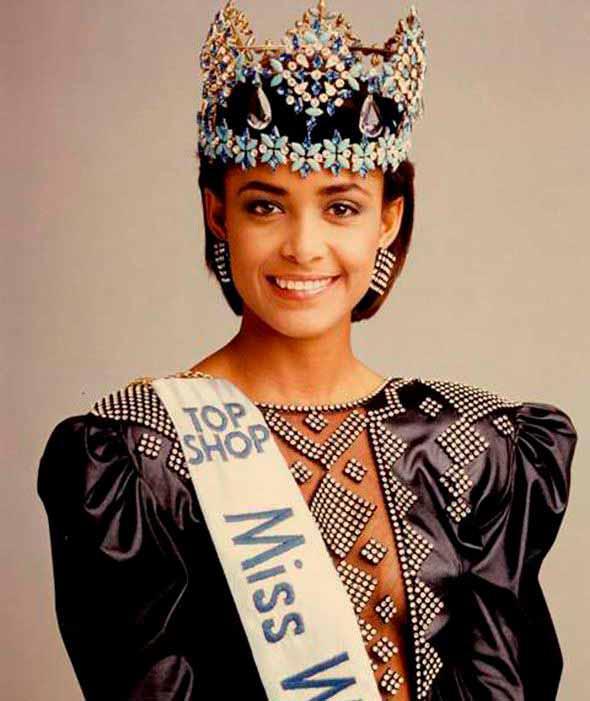 Фото   Мисс Мира 1986 года Жизель Ларонде