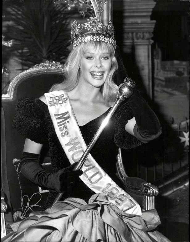 Фото   Мисс Мира 1987 года Улла Вайгершторфер