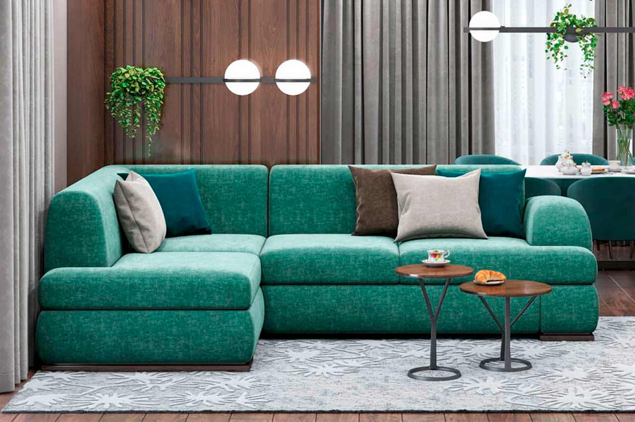 Угловой диван - оптимальный выбор мягкой мебели в гостиную
