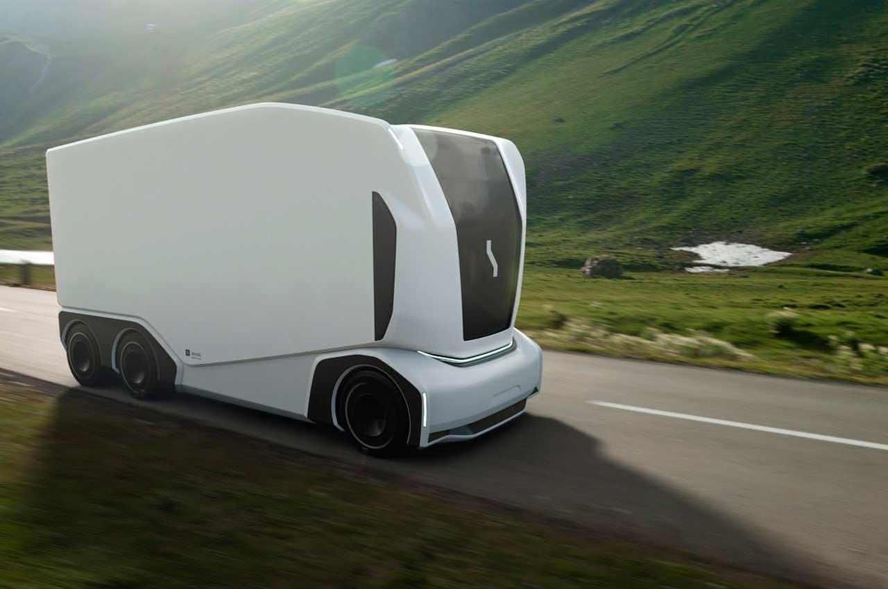 Einride показала самоуправляемый грузовик без кабины водителя