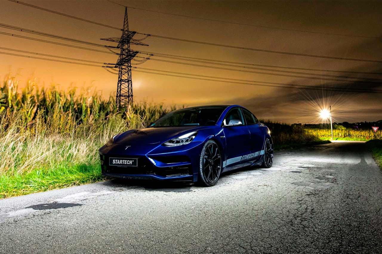 Ателье Startech начало тюнинговать Tesla: первая Model 3 | фото