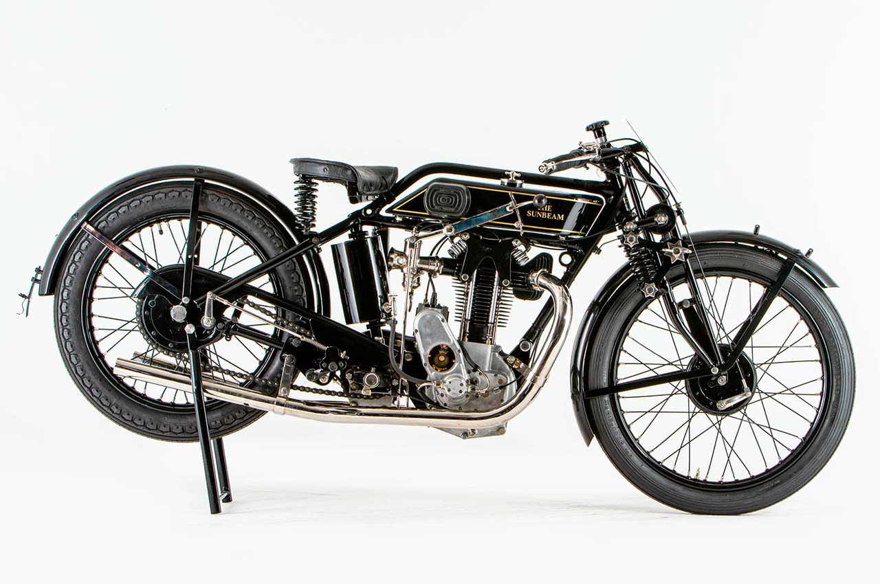 Винтажный мотоцикл 1928 года Sunbeam Model 90 уйдёт с молотка