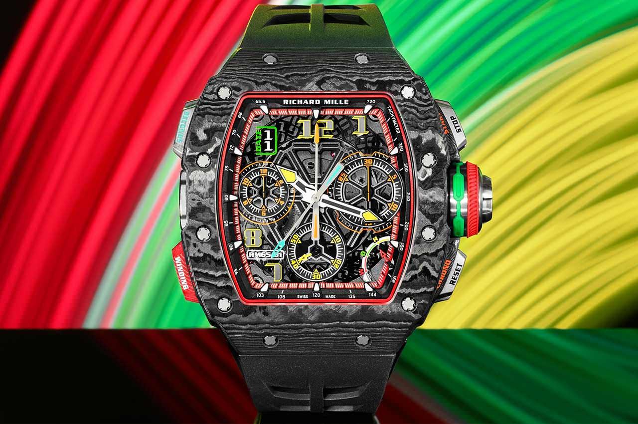 Richard Mille сделал новые спортивные часы в слоёном карбоне