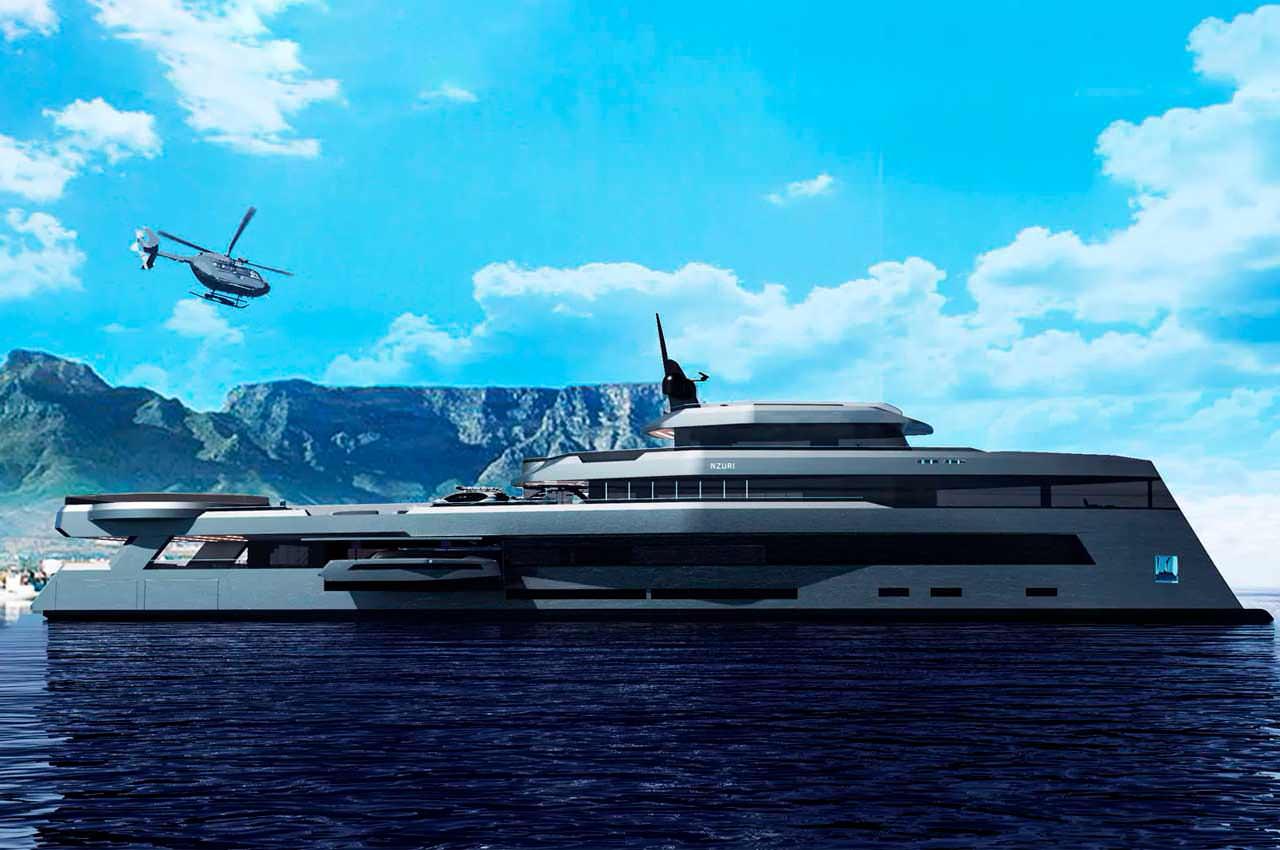 Показана яхта экспедиционного класса Nzuri от Kyron Design