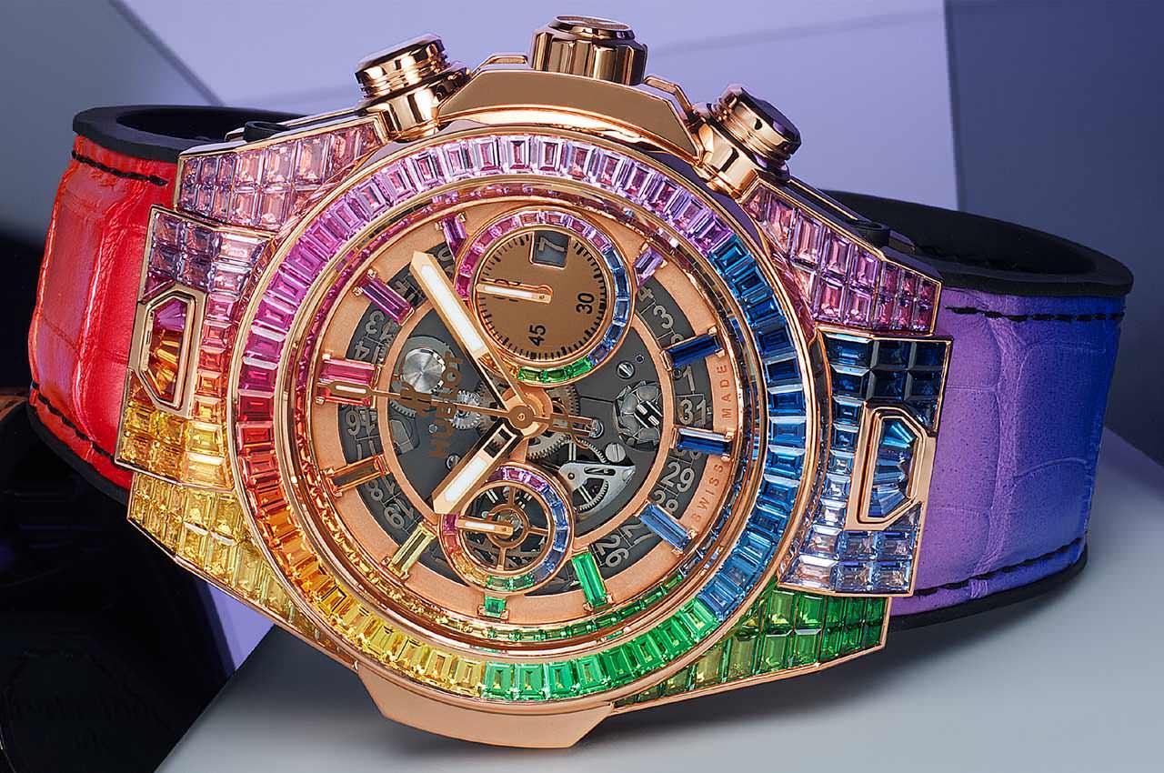Hublot посвятил радуге золотые часы Big Bang Unico
