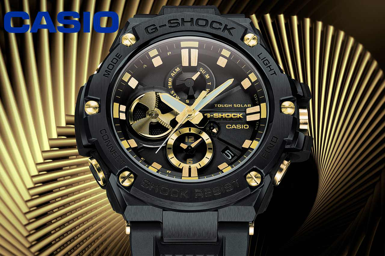 Вышли новые часы Casio G-Shock G-Steel GSTB100GC-1A