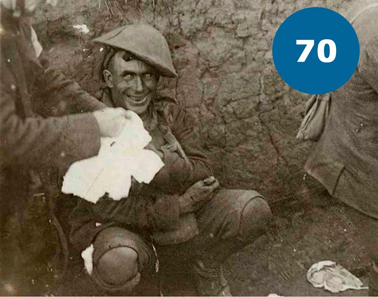 Контужений солдат в Першій Світовій Війні