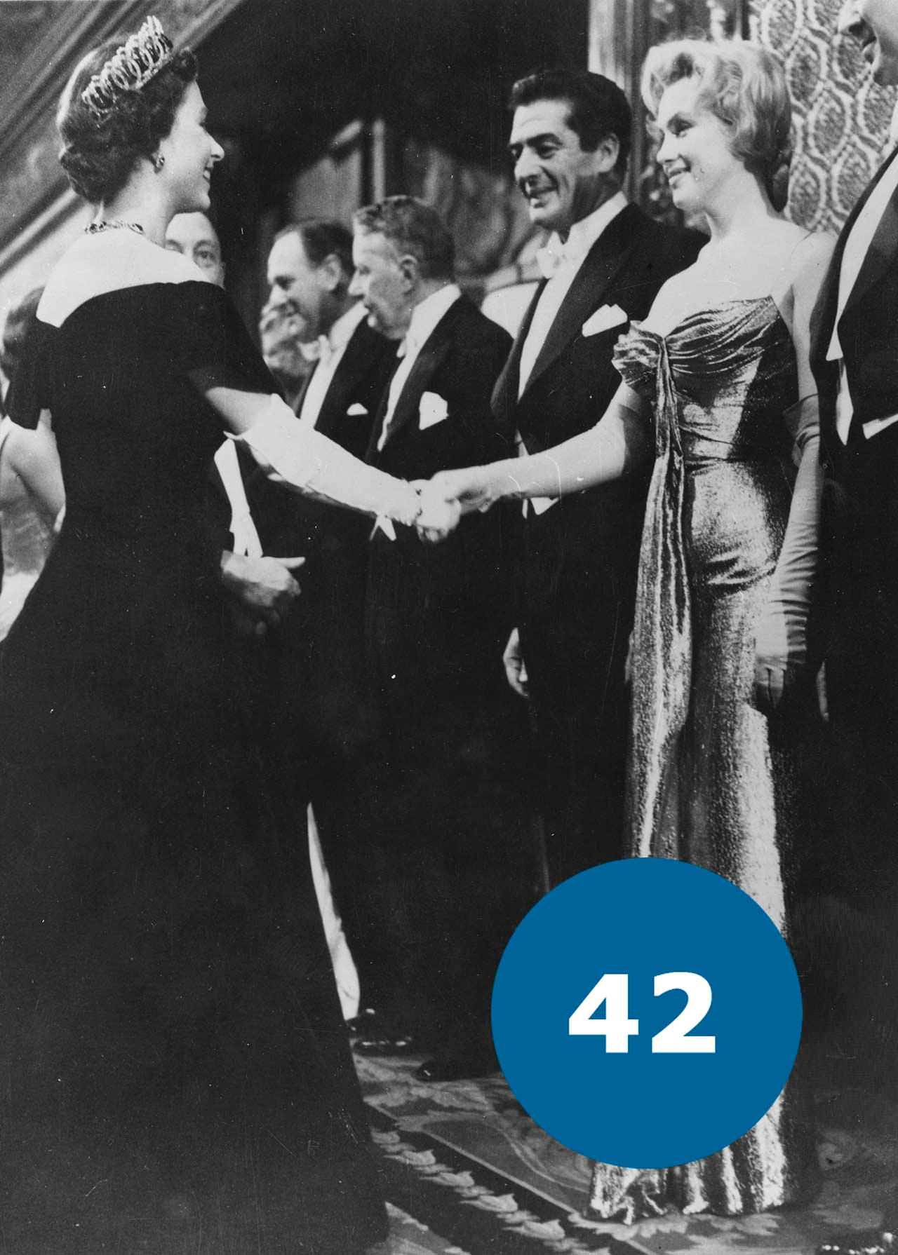 Королева Єлизавета ІІ та Мерілін Монро