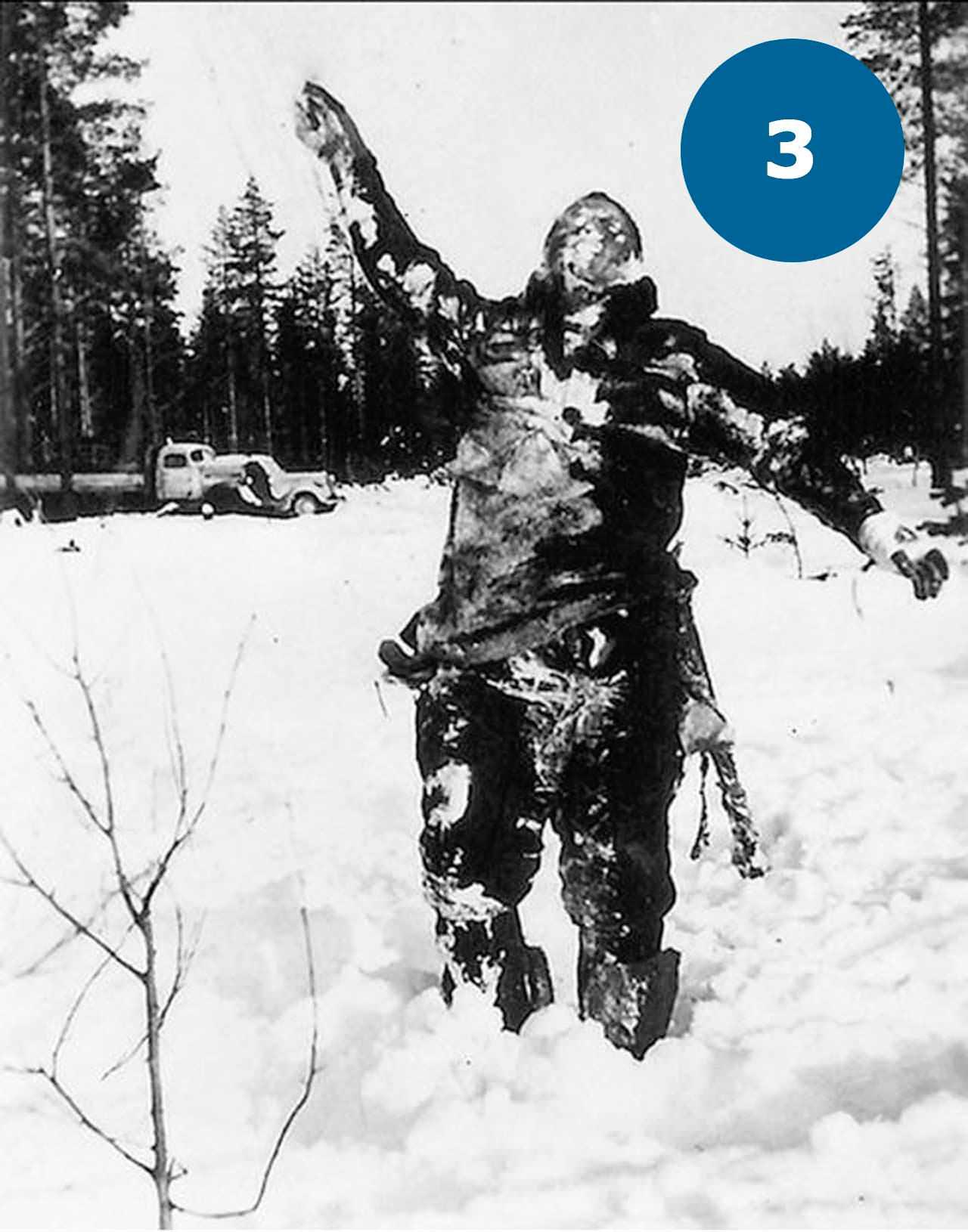 Заморожений радянський солдат