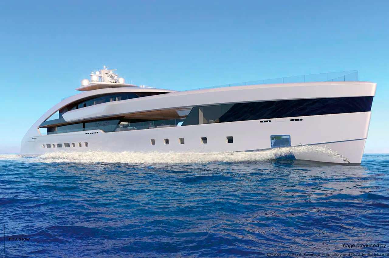 Project Comète: яхта длиной 80+ метров от студии A Group
