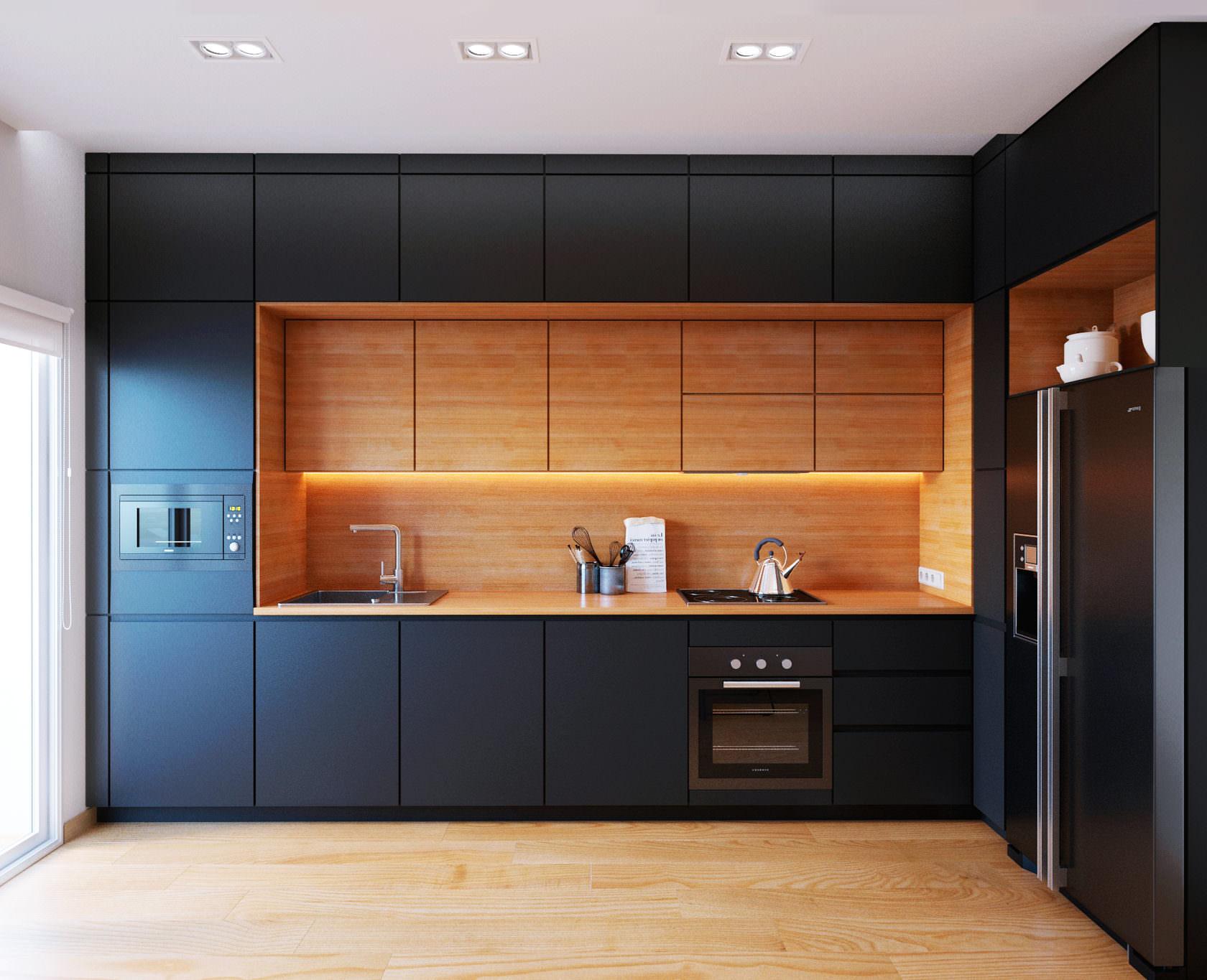 Кухня под потолок — практичное и удобное мебельное решение