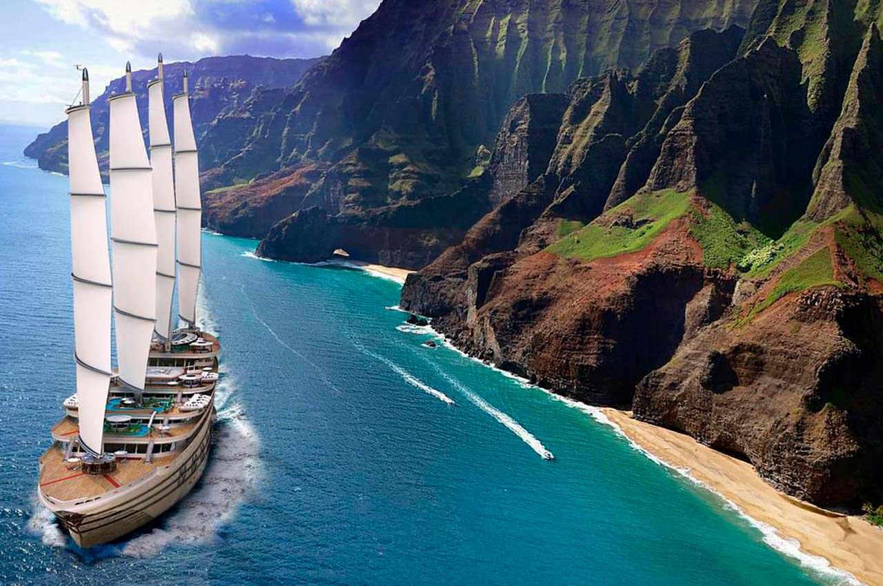 Galleon — концепт парусной круизной гига-яхты на 200 человек