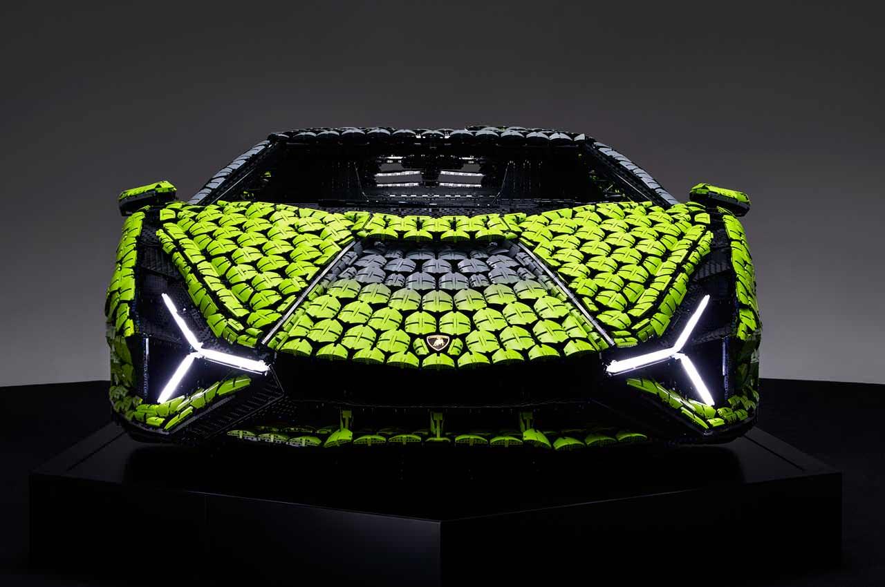 Полноразмерный Lamborghini Sián FKP 37 собрали из LEGO