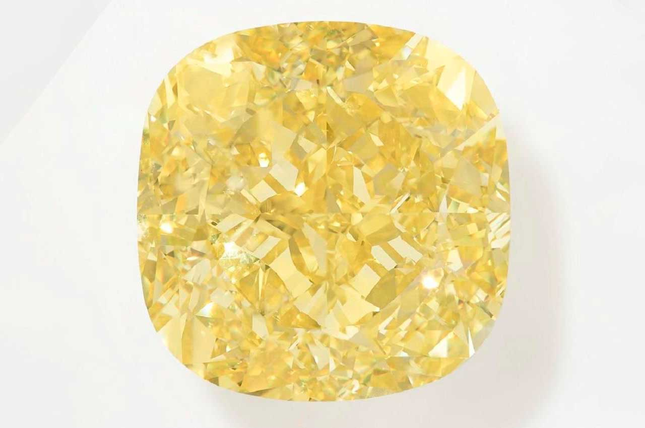 Жёлтый бриллиант Dancing Sun в 204,36 карата продадут на аукционе