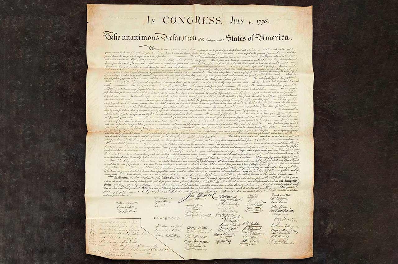 Рукописный текст Декларации независимости США продан за $4,42 млн