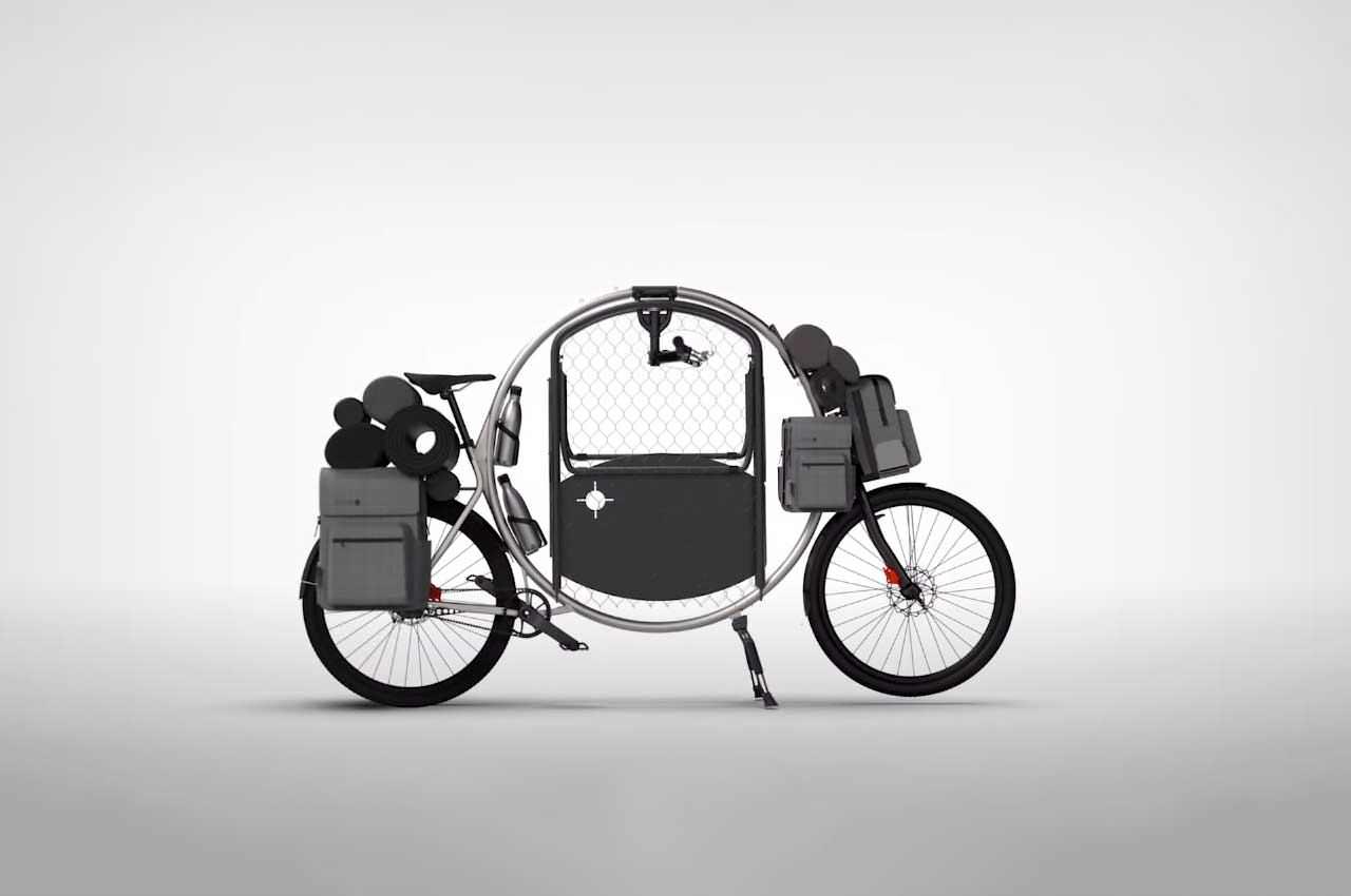 Создан велосипед-трансформер, превращающийся в дом на колёсах