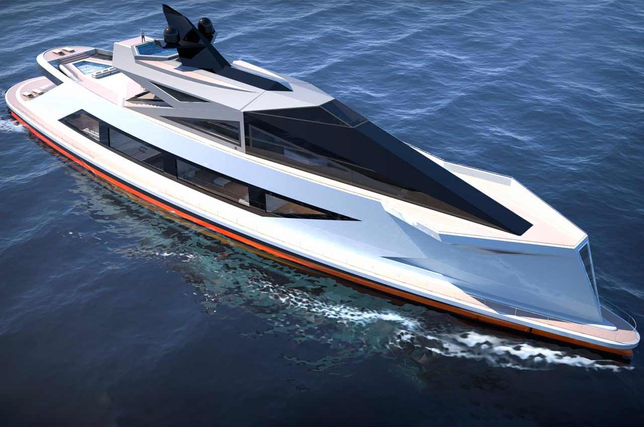 Lazzarini представила концепт яхты с собственным причалом