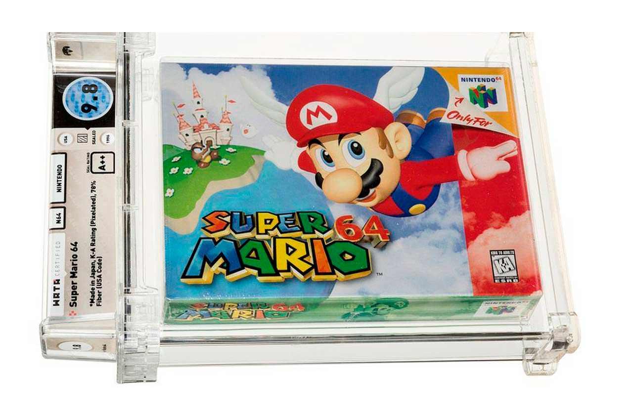 Запечатанный картридж игры Super Mario 64 продан за $1,5 млн