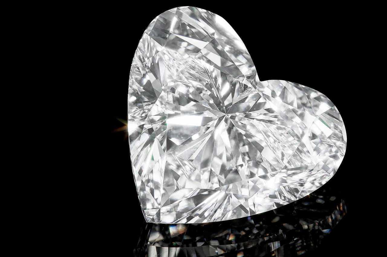 Ghristie's продаст огромный бриллиант в форме сердца онлайн