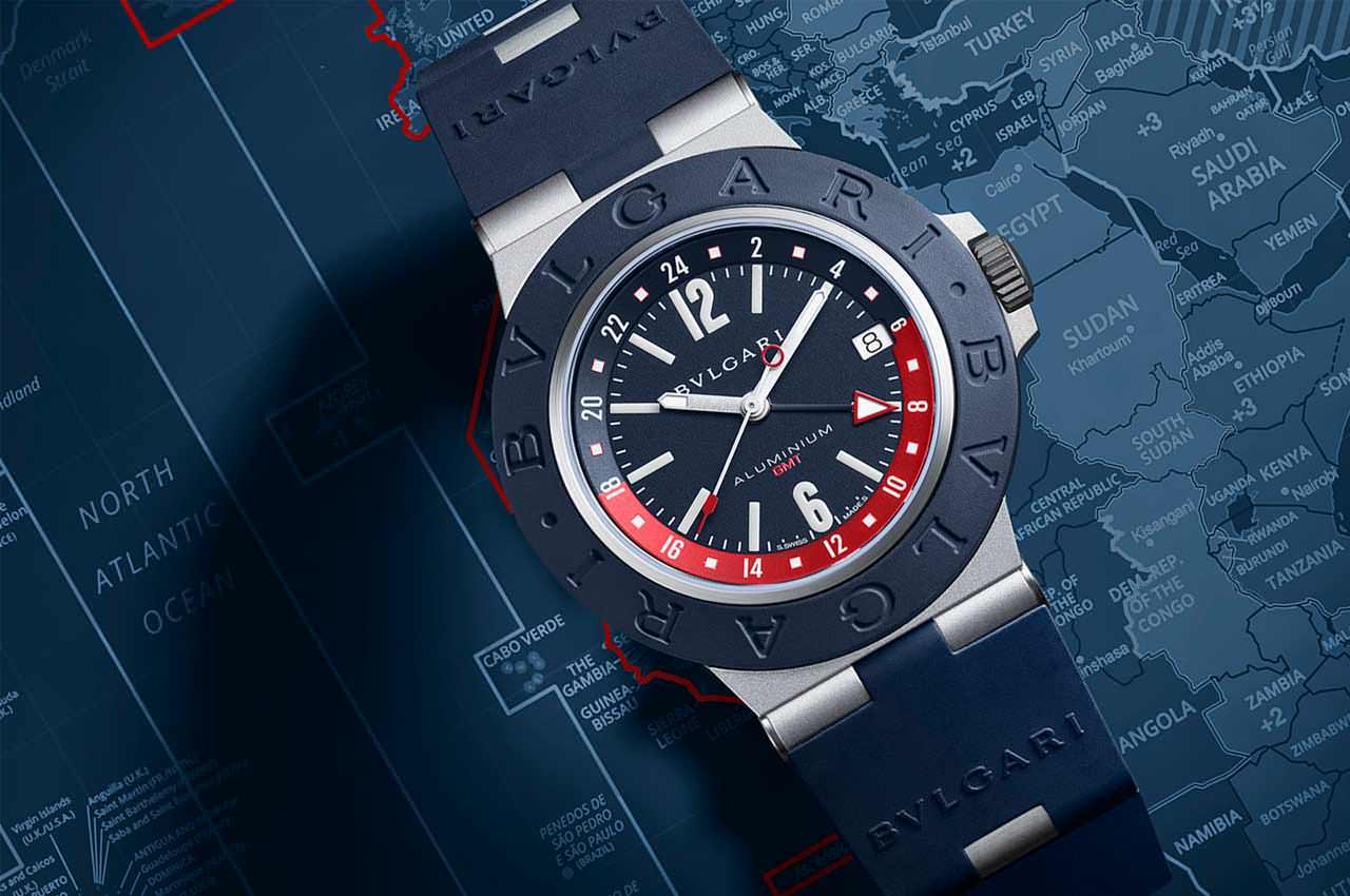 Bulgari представила часы с мировым временем Aluminium GMT