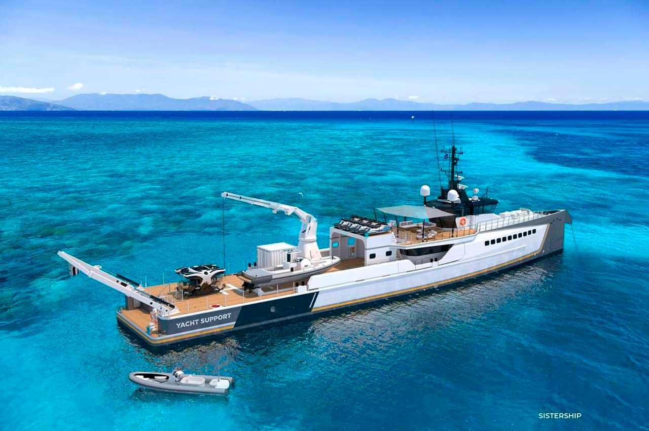 Damen Yacht строит многофункциональное судно поддержки суперъяхты