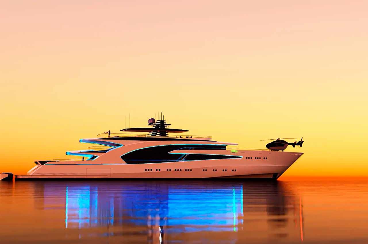 Nick Stark Design подготовила концепт суперъяхты Project Grace