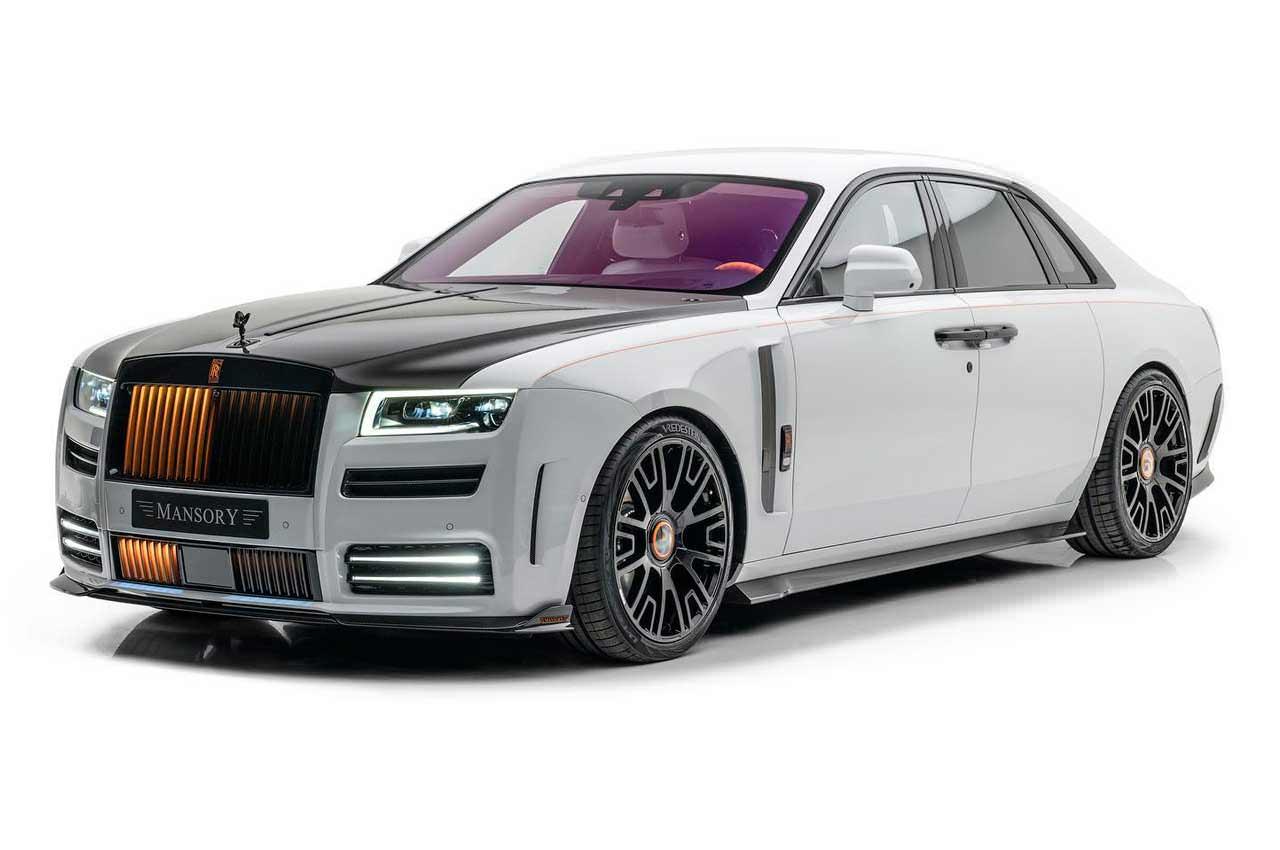 Новый Rolls-Royce Ghost в тюнинге Mansory получил подсветку гриля