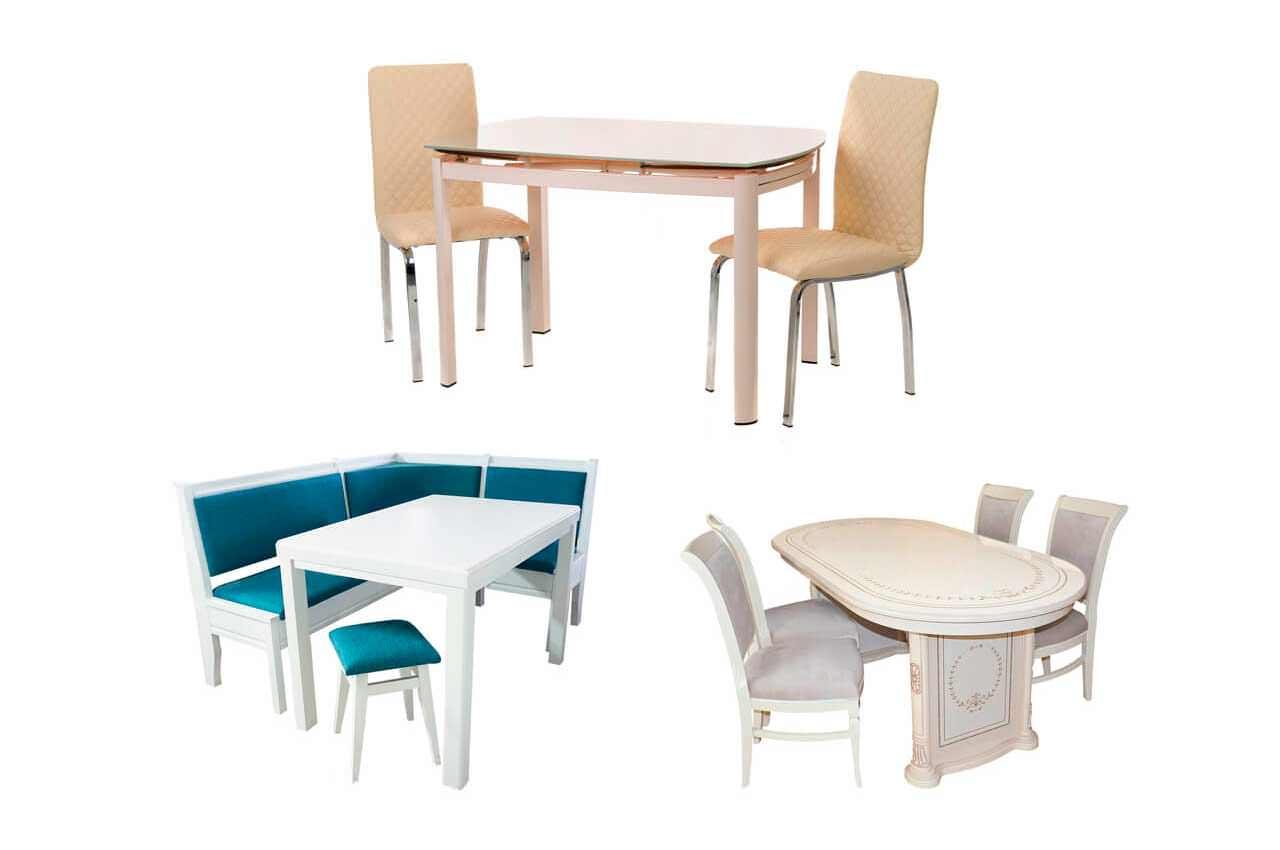 Как выбрать комплект на кухню из стола и стульев?