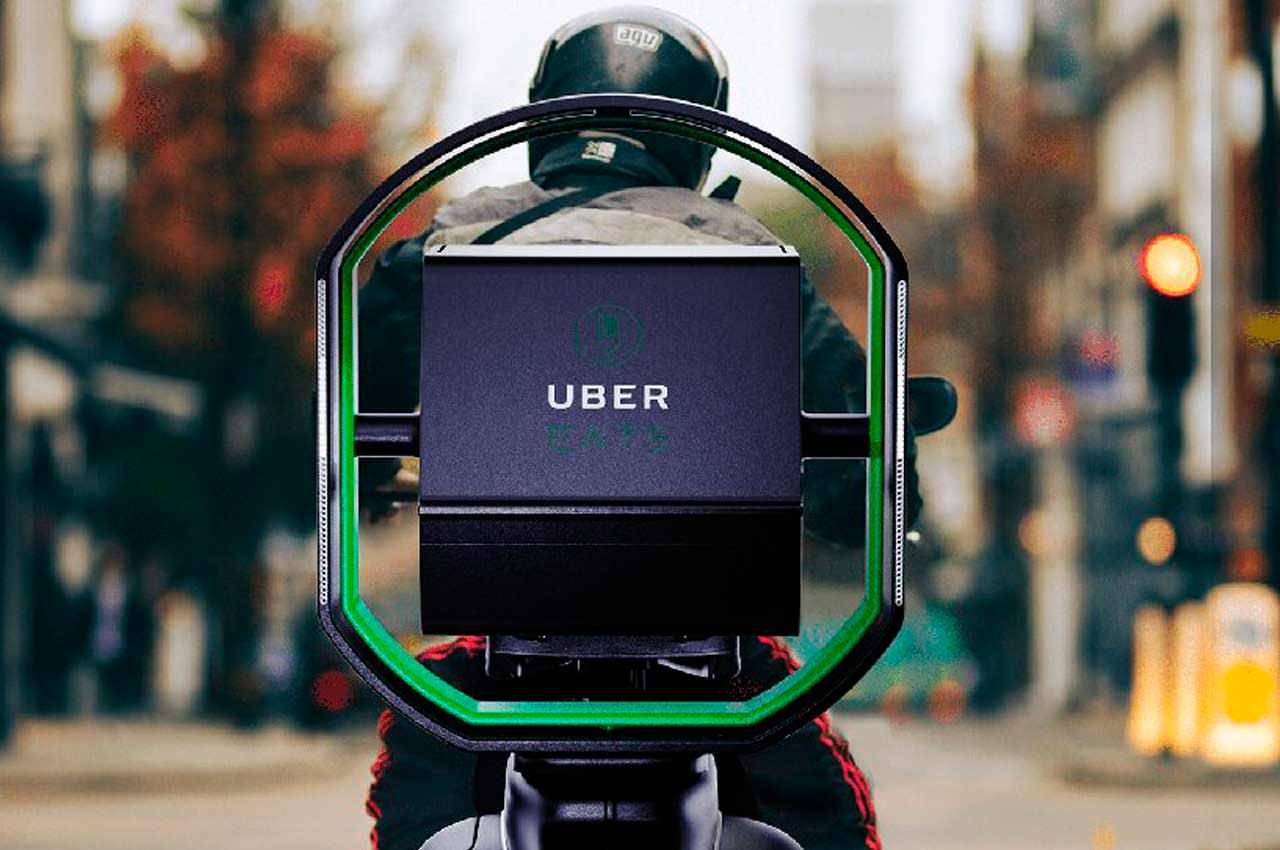 Uber придумал трёхосевой стабилизатор для доставки еды в целости